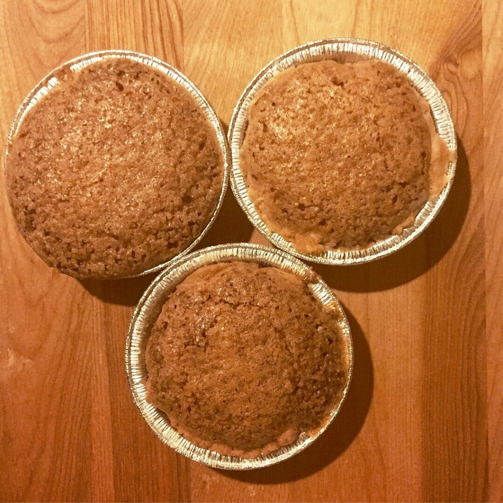 Three coconut pies