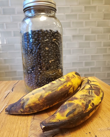 Plantains and dried black beans